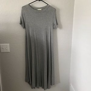 Flamingo Urban gray swing dress